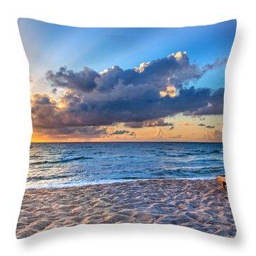 Beach Morning Throw Pillow