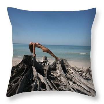 Beach Ngirl Throw Pillow