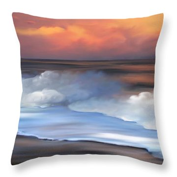 Beach Oasis Throw Pillow