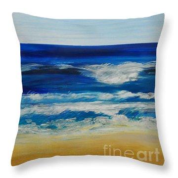 Beach Ocean Sky Throw Pillow
