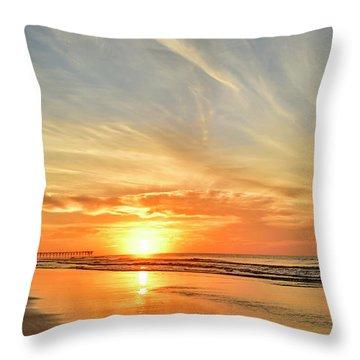 Beach Of Gold Throw Pillow