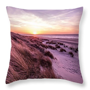 Beach Of Renesse Throw Pillow