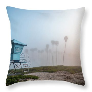 Throw Pillow featuring the photograph Beach Office by Sean Foster