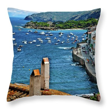 Throw Pillow featuring the photograph Beach Overlook by Harry Spitz