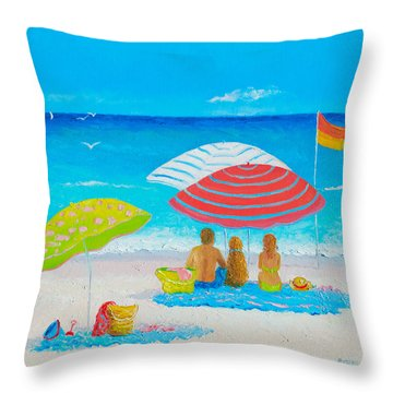 Beach Painting - Endless Summer Days Throw Pillow