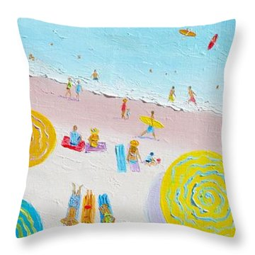 Beach Painting - The Simple Life Throw Pillow by Jan Matson