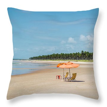 Beach Paradise Throw Pillow by Lana Enderle