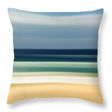 Beach Pastels Throw Pillow