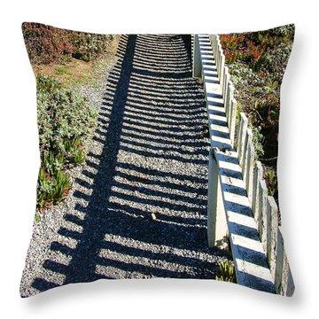 Beach Path Throw Pillow by Carol Groenen