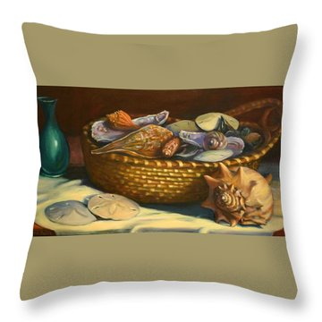 Beach Peace Throw Pillow by Dorothy Allston Rogers