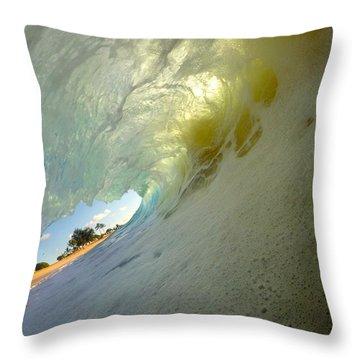 Beach Peek Throw Pillow