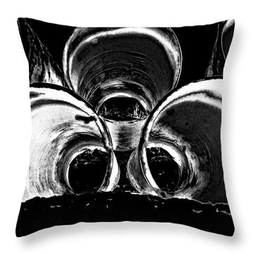 Beach Pipes Throw Pillow