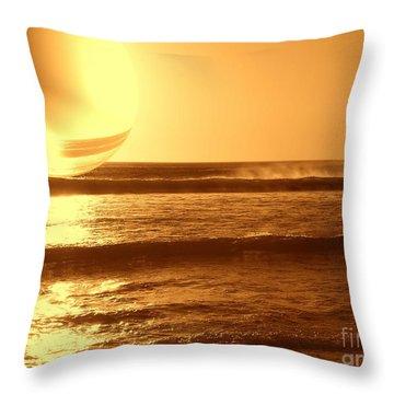 Throw Pillow featuring the photograph Beach Planet Series II by Beto Machado