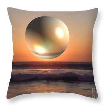 Beach Planet Series Iv Throw Pillow
