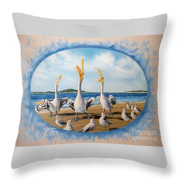 Privileged. Pelican  Procedure Prevailed   Throw Pillow