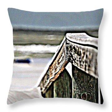 Beach Rail Throw Pillow