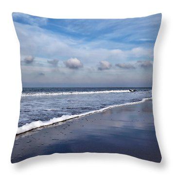 Beach Reflections Throw Pillow