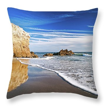 Beach Reflections Throw Pillow by Aron Kearney