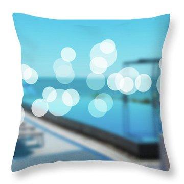 Throw Pillow featuring the photograph Beach Resort Concept by Atiketta Sangasaeng