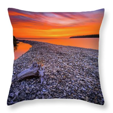 Beach Road Throw Pillow