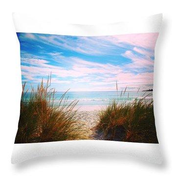 Beach Romance Throw Pillow