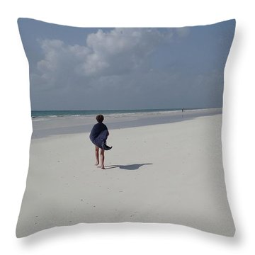 Beach Run Throw Pillow