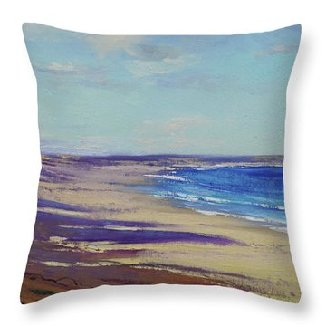 Beach Sand Shadows Throw Pillow