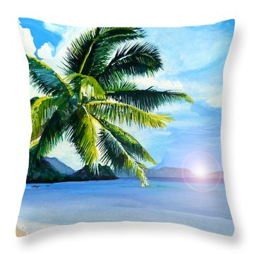 Beach Scene Throw Pillow by Curtiss Shaffer