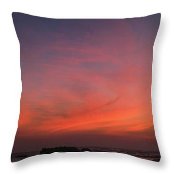 Beach Sky Blaze Throw Pillow