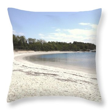 Beach Solomons Island Throw Pillow