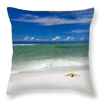 Beach Splendour Throw Pillow by Janet Fikar