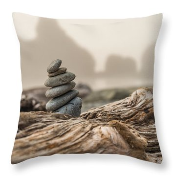 Beach Stack Throw Pillow