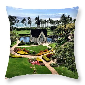 Beach Steeple Throw Pillow by Michael Albright