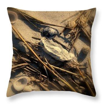 Beach Still Life Throw Pillow by Susanne Van Hulst