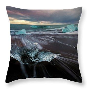 Throw Pillow featuring the photograph Beach Stranded by Allen Biedrzycki