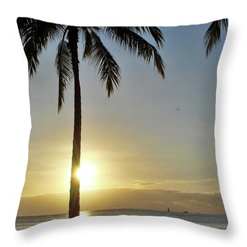 Beach Sunset Throw Pillow