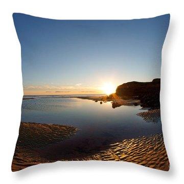 Beach Textures Throw Pillow