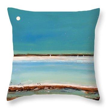 Beach Textures Throw Pillow by Toni Grote