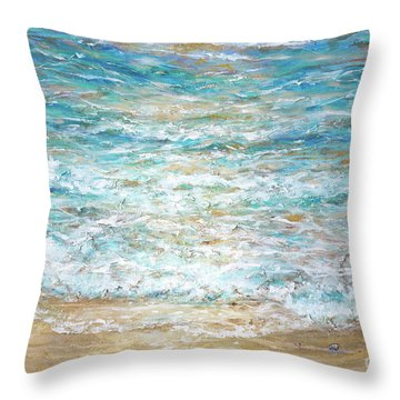 Beach Tide Throw Pillow