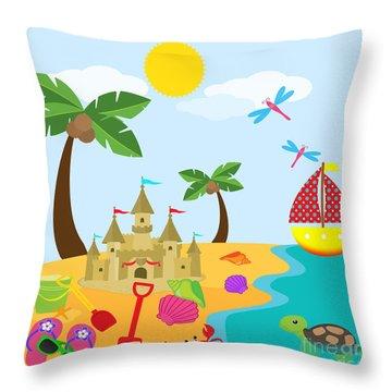 Beach Time-jp2986 Throw Pillow