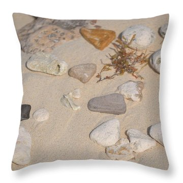 Beach Treasures 2 Throw Pillow