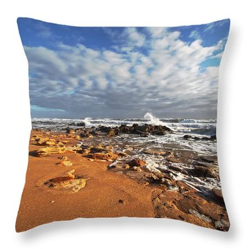 Beach View Throw Pillow