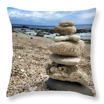 Beach Zen Throw Pillow