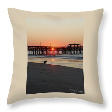 Beachcomber Throw Pillow by Gordon Mooneyhan
