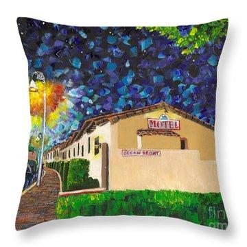 Beachcomber Motel Throw Pillow