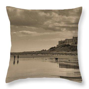 Beachcombers Throw Pillow