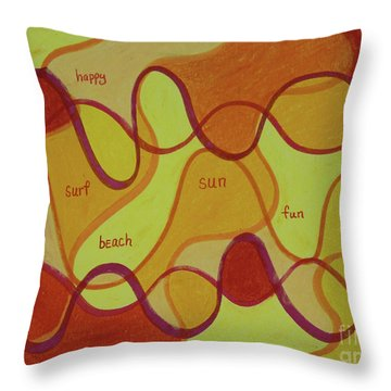 Beachday Two Throw Pillow
