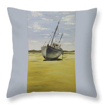 Beached At Bunbeg Throw Pillow by Alan Hogan
