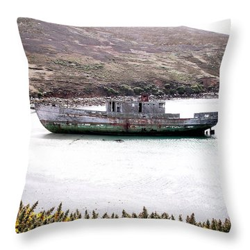 Beached Beauty Throw Pillow