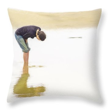 Beached Throw Pillow by Billie-Jo Miller